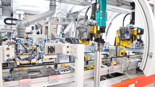 TOX Clinching Tong for copper joining production system